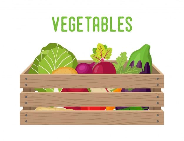 Caixa com legumes
