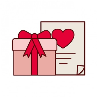 Caixa com lista de presentes isoalted icon