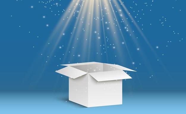 Caixa corton em um fundo transparente. um presente ou pacote.