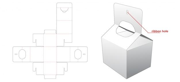 Caixa de alimentos com alça de corte modelo