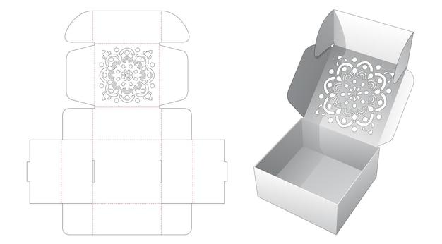 Caixa de bolo dobrável com molde estampado de mandala estampado