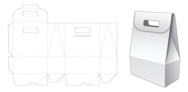 Caixa de cartão com suporte modelo de corte