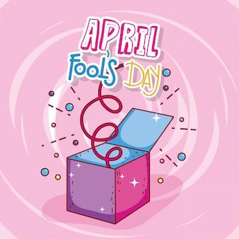 Caixa de celebração do dia dos enganados