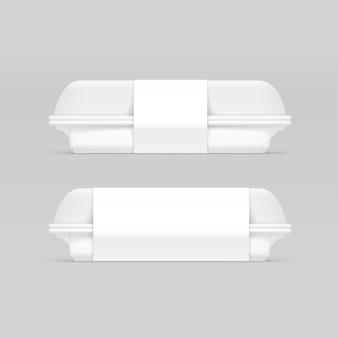 Caixa de comida de embalagem em branco branco