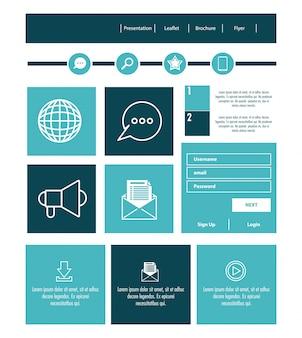 Caixa de contato do modelo de website