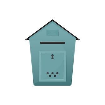 Caixa de correio com orifício para entrega de cartas e encomendas para o seu conceito de casa