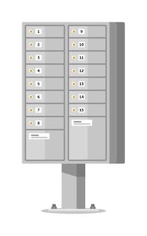 Caixa de correio de apartamento em pilar isolado