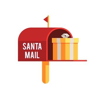 Caixa de correio de natal ao ar livre