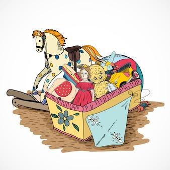 Caixa de desenho de brinquedos
