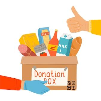 Caixa de doação em tempo de quarentena