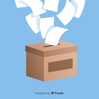 Caixa de eleição moderna com design plano