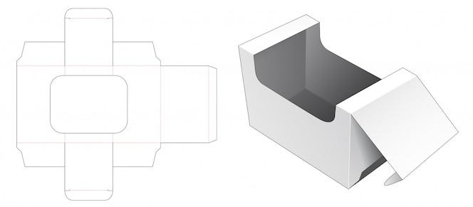 Caixa de embalagem com modelo de janela cortada
