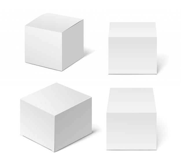 Caixa de embalagem de papelão alta branca