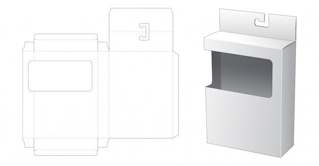 Caixa de embalagem de suspensão com janela cortada modelo
