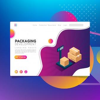 Caixa de embalagem e desenvolvimento de landing pages