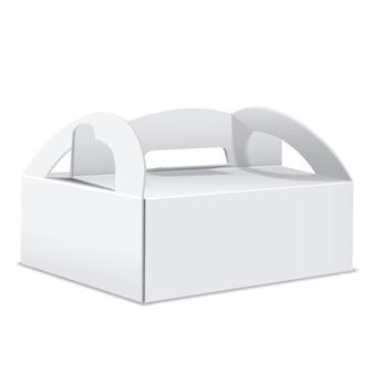Caixa de embalagem em branco com alça