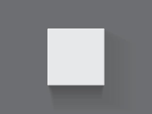 Caixa de embalagem quadrada de papel em fundo escuro