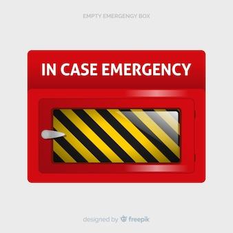 Caixa de emergência vazia