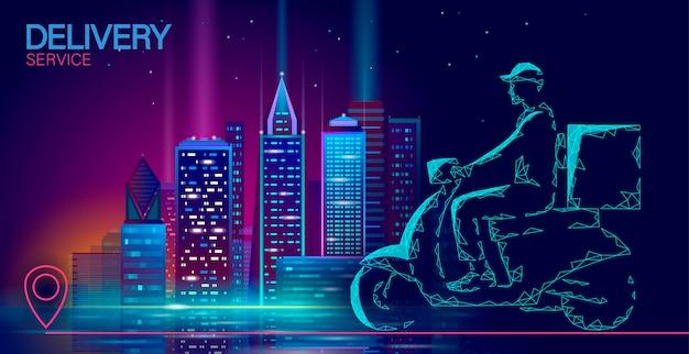 Caixa de entrega de scooter na cidade