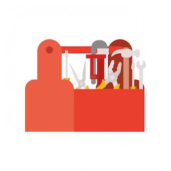 Caixa de ferramentas de construção isolada