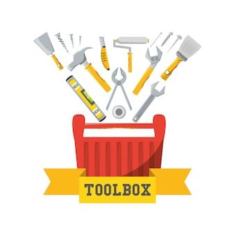 Caixa de ferramentas para reparar o serviço