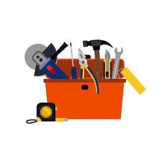Caixa de ferramentas para reparo de casa diy