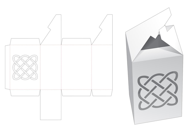 Caixa de flip intertravada com modelo de estêncil de linha