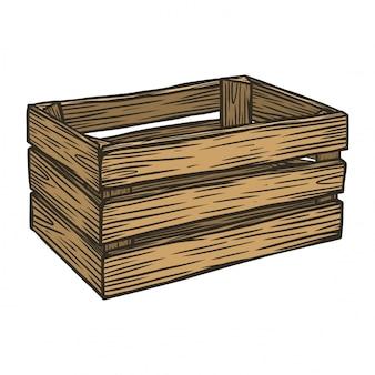 Caixa de frutas de madeira