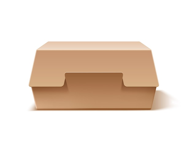 Caixa de hambúrguer de papelão realista