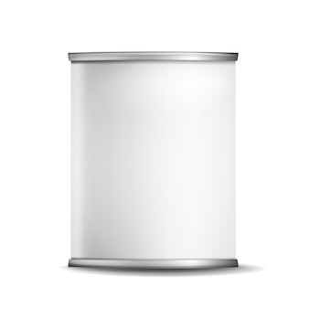 Caixa de lata de metal pode