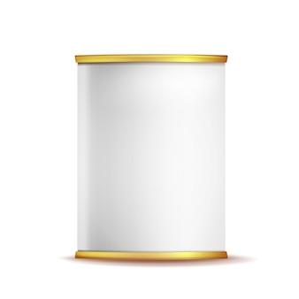 Caixa de lata pode modelo
