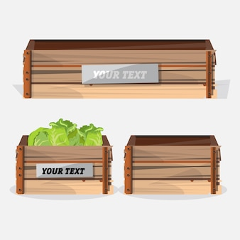 Caixa de madeira.
