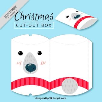 Caixa de natal bonita urso polar