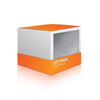 Caixa de pacote de software