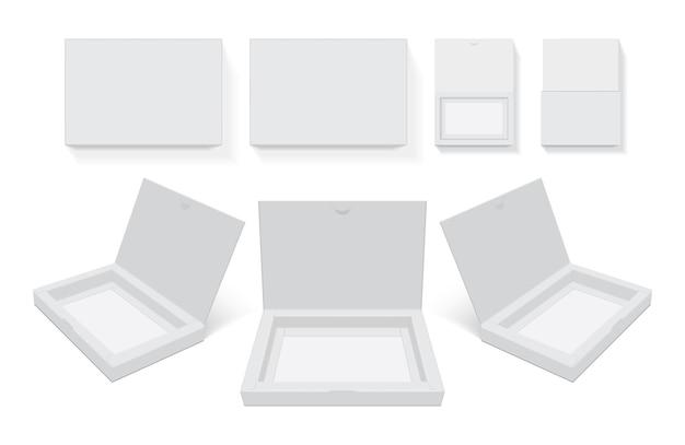 Caixa de papelão aberta fácil de mudar modelo de cores