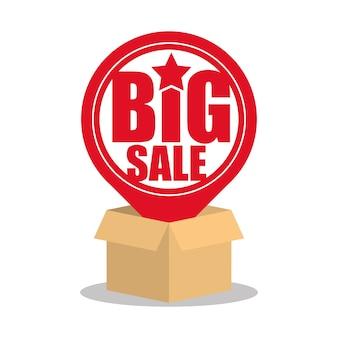 Caixa de papelão grande venda pin mapa on-line