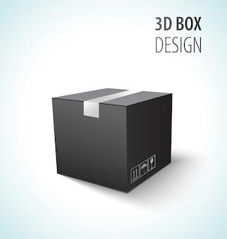 Caixa de papelão preto vector