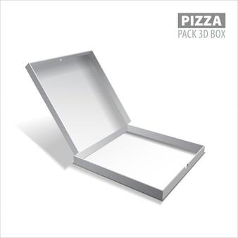 Caixa de pizza embalagem da caixa da ilustração 3d