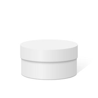 Caixa de plástico redonda