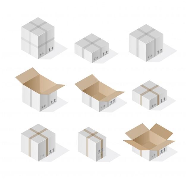 Caixa de presente 3d isométrica