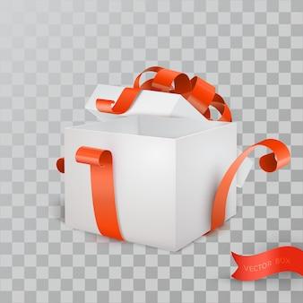 Caixa de presente aberto