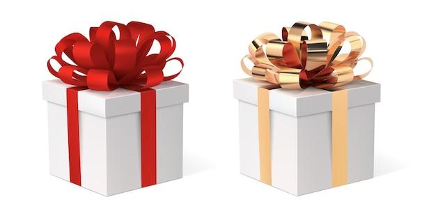 Caixa de presente com conjunto de fita