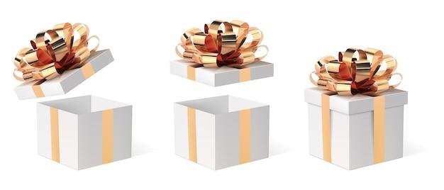 Caixa de presente com fita