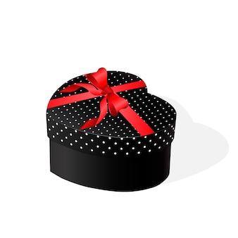 Caixa de presente com um laço vermelho. ilustração vetorial
