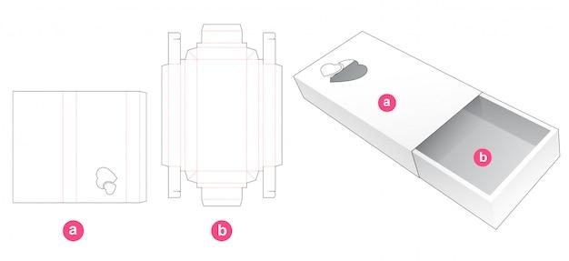 Caixa de presente de lata com modelo de corte de capa