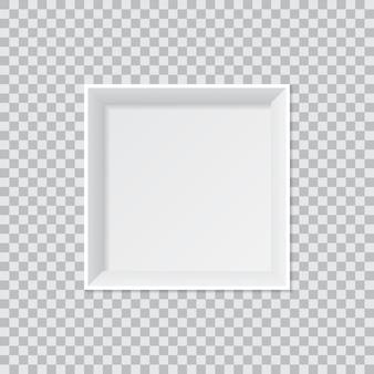 Caixa de presente em branco aberto vista superior isolar em transparente