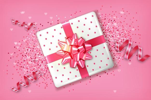 Caixa de presente rosa