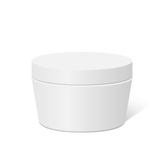 Caixa de recipiente redondo de plástico