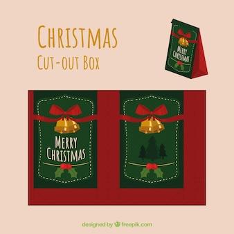 Caixa de recorte natalícia vintage