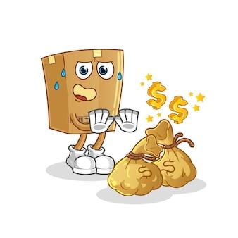 Caixa de recusa de dinheiro.
